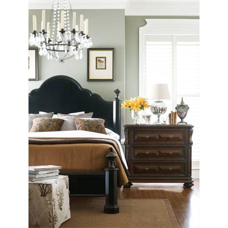 ebony bedroom furniture sets continental mansion bed king