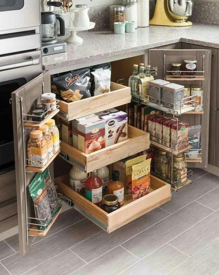 kitchen condiment corner