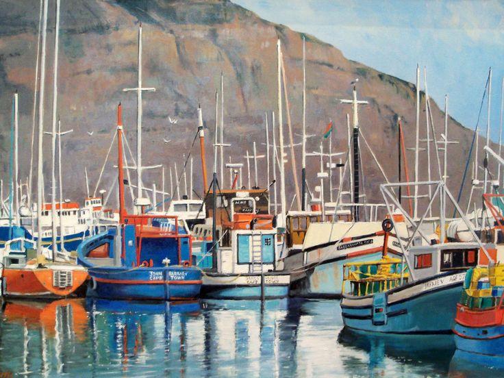 'Trawlers at Hout Bay' by John Smith  Artisan Gallery: info@artisan.co.za, 0313124364