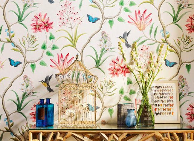Klassieke Engelse muren met het behang van Sanderson - Roomed | roomed.nl