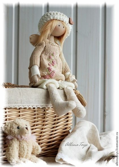 .Ангел Мила. По мотивам. - бледно-розовый,розовый,ангел,кукла ангел,тильда ♡