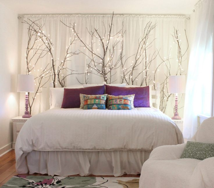 Ideas For Using Branches As Indoor Decor  Here, Placed Behind A Headboard    Hawk