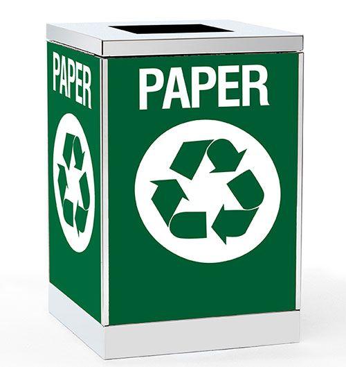 Obbligato branded trash bin