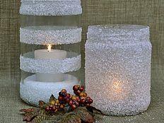 Epsom salt glass jar