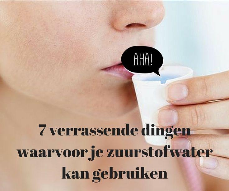 Zuurstofwater: wondermiddel in huis