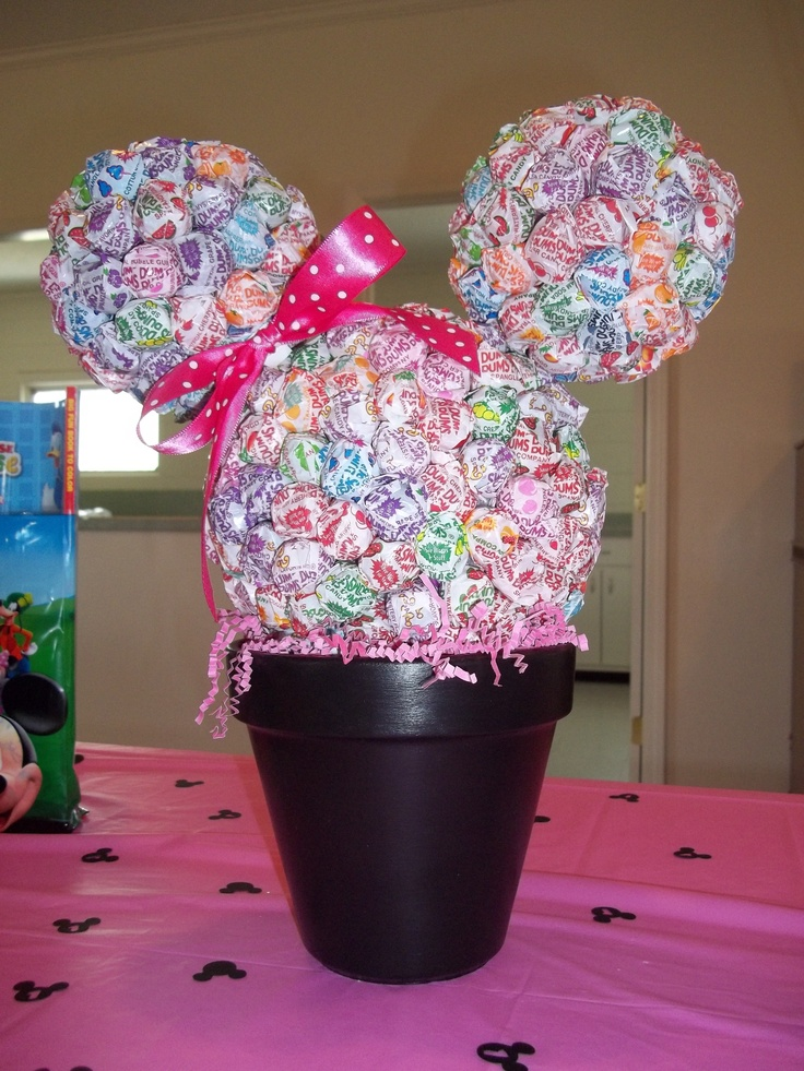 Minnie Mouse Head Made Out Of Dum Dums Minnie Mouse
