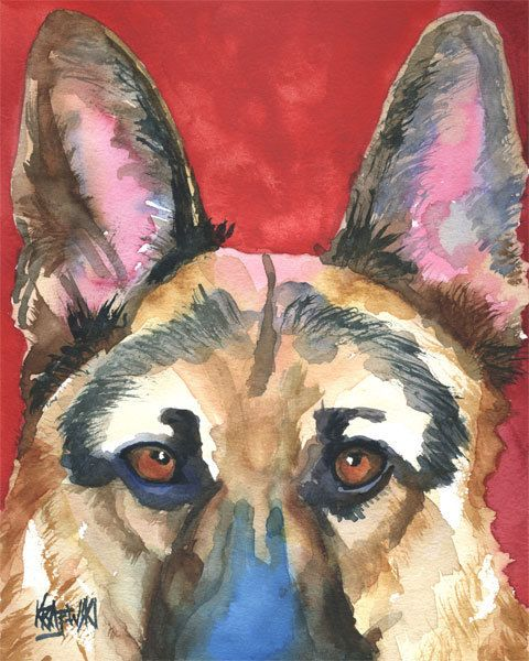 Etsy listing - German Shepherd. Going to get one of these and a Newfie one.