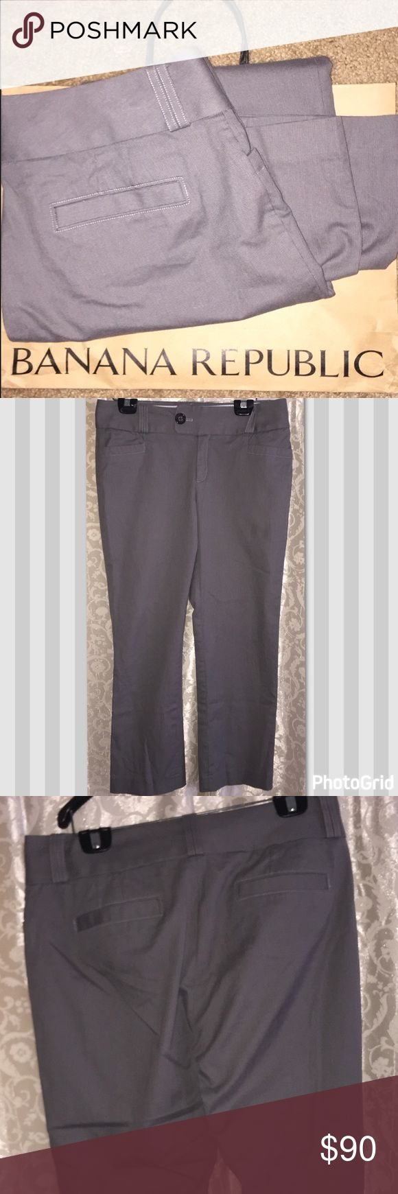 Banana republic stretch pants Banana republic stretch pants gray slacks amazing condition size 12 Banana Republic Pants Trousers