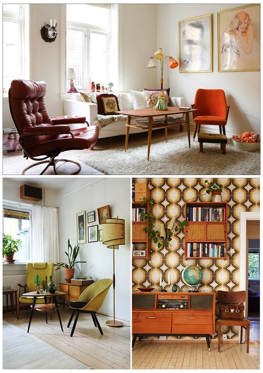 A mix of mid century modern pieces with eclectic flea for Modern home decor market