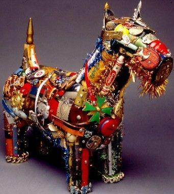 Creative Recycled Sculpture Art Work