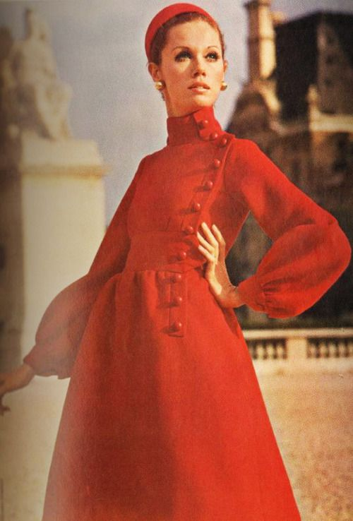 1969 Red Evening Dress