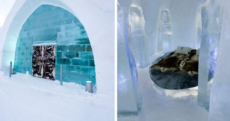 Hotéis diferentes permitem dormir no gelo, debaixo d'água ou em mina