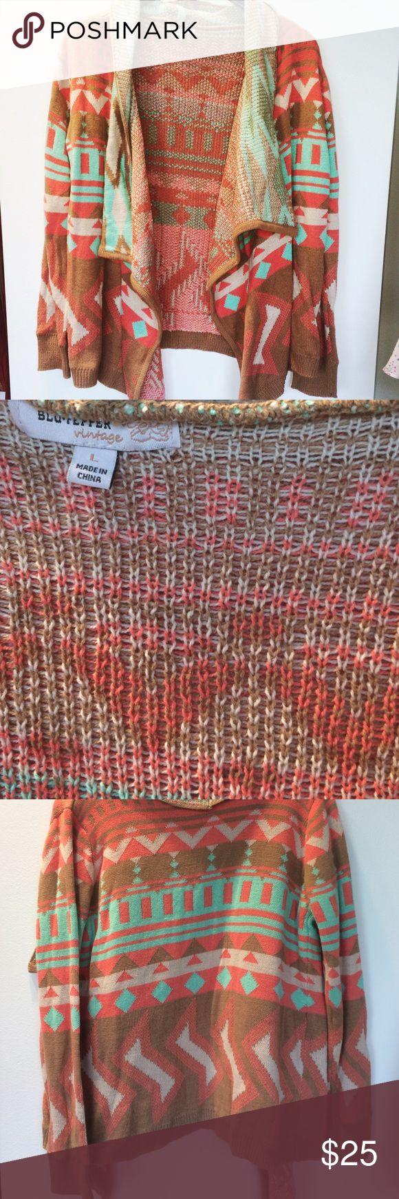 Aztec tribal cardigan Super cozy tribal sweater cardi. Worn once Sweaters Cardigans