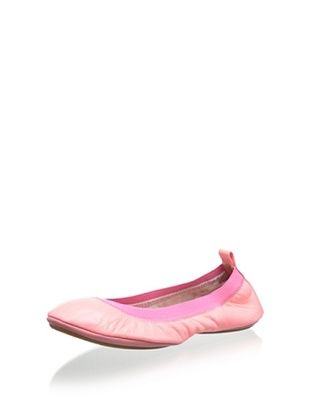 43% OFF Yosi Samra Women's Samara Flat Leather (Neon Pink)