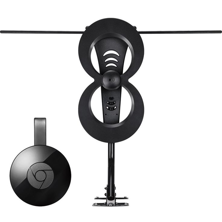 Google - Chromecast & Antennas Direct ClearStream 2MAX Indoor/Outdoor HDTV Antenna Package