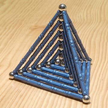GEOMAG constructions: Six embedded tetrahedra