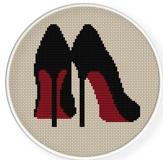 Buy 4 get 1 free ,Buy 6 get 2 free,Cross stitch pattern, Cross-StitchPDF,high heel ,shoes,zxxc0115. $4.50, via Etsy.