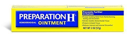 Preparation H Hemorrhoid Symptom Treatment Ointment, Itching, Burning and Discomfort Relief, Tube (2.0 Ounce):   Preparation H Ointment provides quick relief for both internal and external hemorrhoidal symptoms. It temporarily shrinks swollen hemorrhoidal