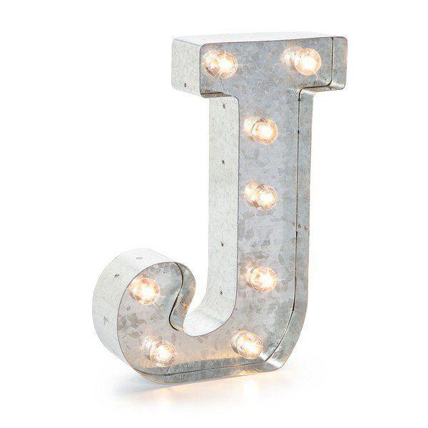 Trend J Leuchtbuchstabe silber Marquee Letter