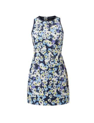 Workwear doesn't always have to be serious, this Blue Pansy Print Skater Dress will put a spring in your step.