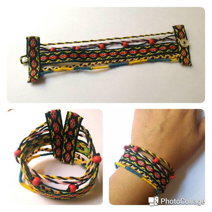 Bracciale nastri e fili - ispirazioen Valencia #bracelet #crafting