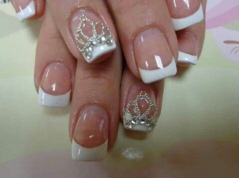 I bet the most classic nail design in the world should be the elegant  white-tipped French manicure. They look ultra-chic for their simple  fantastic style. - Best 25+ Princess Nail Art Ideas Only On Pinterest Princess Nail