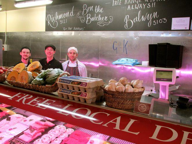 Ben the butcher, free range, gourmet meat on bridge
