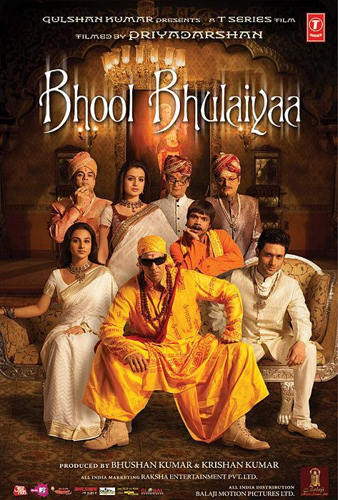 starcast : Akshay Kumar, Vidya Balan, Amisha Patel, Shiney Ahuja, Paresh Rawal, Rajpal Yadav, Asrani, Vikram Go director : Priyadarshan producer : Bhushan Kumar music_director : Pritam genre : Comedy format : DVD label : T-Series language : Hindi year : 2007 Discs : 1 http://www.clickoncart.com/Bhool-Bhulaiyaa-DVD