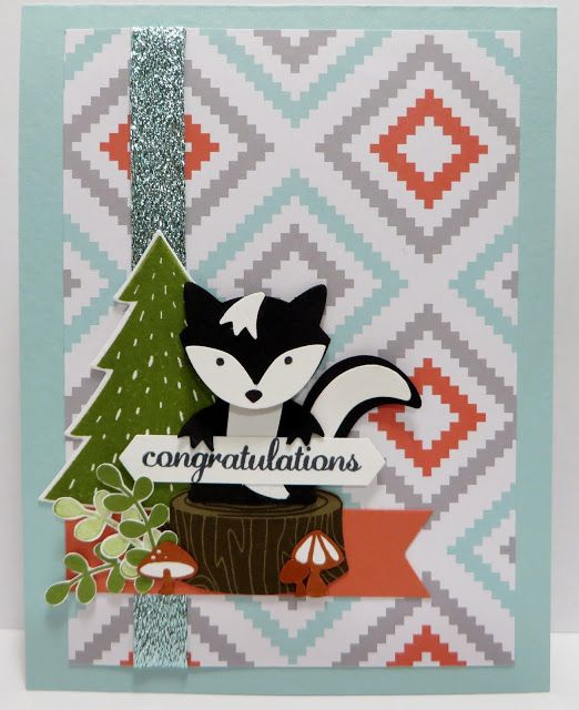 Lynn's Locker: Stampin' Up PPA320 Foxy Friends, A Little Foxy, Perfect Pines, Lots of Labels, Layering Ovals, Best Birds, Fox Builder, Classic Label, Banner Triple