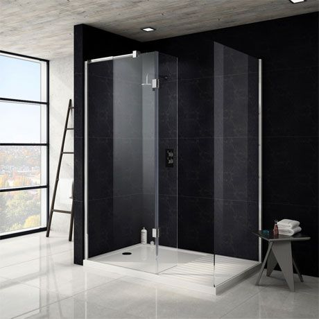 Saturn 8mm Walk In Shower Enclosure - 1400 x 900mm (includes Side Panel