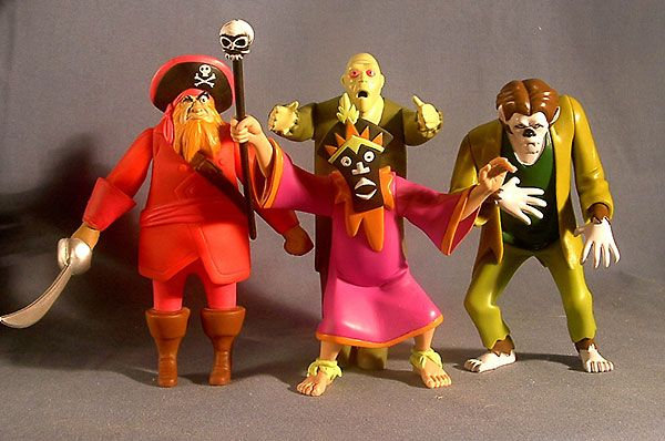 Da sx in senso orario Redbeard's Ghost, Zombie, Wolfman e Witch Doctor serie Scooby-Doo! Dove sei tu? (Scooby-Doo, Where Are You?). https://www.youtube.com/watch?