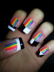 Black and white and rainbows!