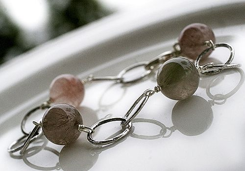 Bond bracelet by Paulan korukauppa. Rutilated quartz, one of my favorite stones also.
