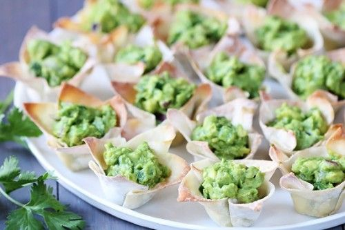 Guacamole Cups...Neat.,..No, really, I mean a really neat..., as in not sloppy way to eat a messy dip.
