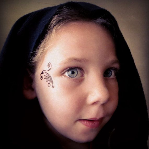 Spider Spiderman Web Temporary Face Tattoo for by EARinkFun