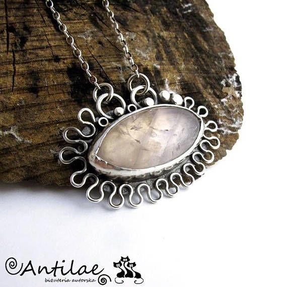 Qiyom  Pink quartz silver