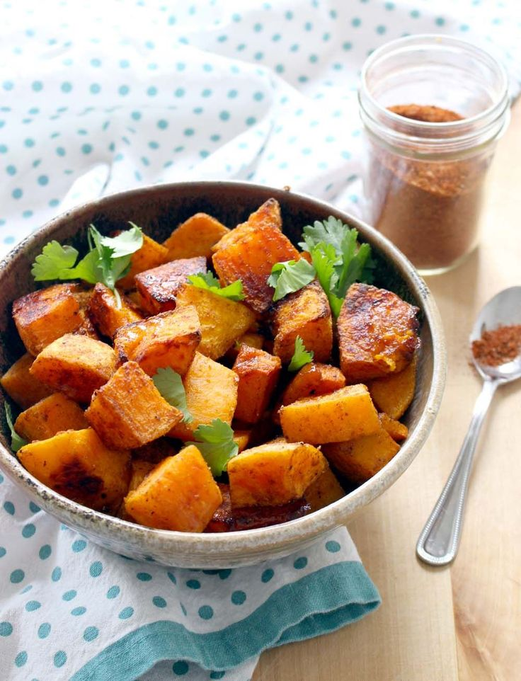 Butternut Pumpkin baked with basic Ras El Hanout recipe included