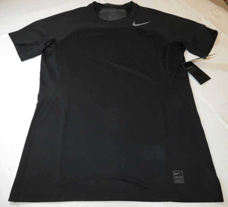 Nike Pro HyperCool Fitted Mens short sleeve shirt 828178 010 L large Black NWT #Nike #SportTee