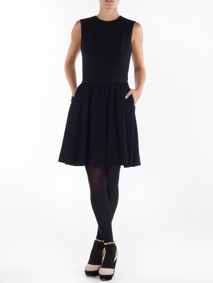 By Malene Birger Imania Black Flounce Dress