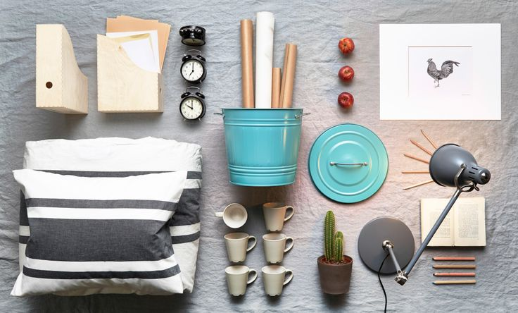 Five of our favorite dorm room style kits. Coordinate and personalize your space with these wooden magazine files, black alarm clocks, a turquoise steel bin, white/grey quilt cover set, beige mugs and a grey work lamp, all from IKEA. For more dorm ideas check out our Back to College board: http://www.pinterest.com/IKEAUSA/back-to-college/