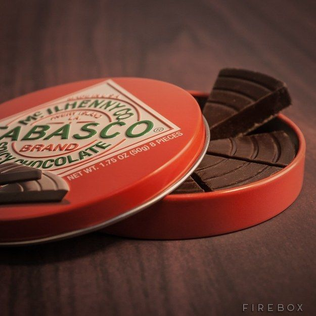 This Tabasco chocolate: | 24 Totally Bizarre Chocolates To Give Your Valentine