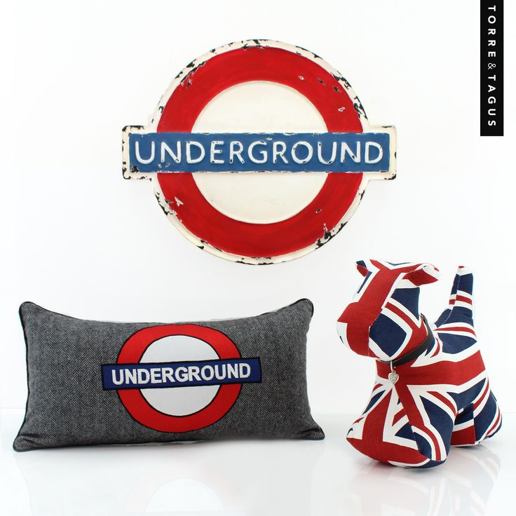 LONDON CALLING?... Infuse your daydreams of travel adventures with London inspired home decor accessories! #UndergroundWallDécor #LondonUndergroundCushion #Doorstop #TorreAndTagus #TravelHomeDecor #LondonAccessories www.torretagus.com