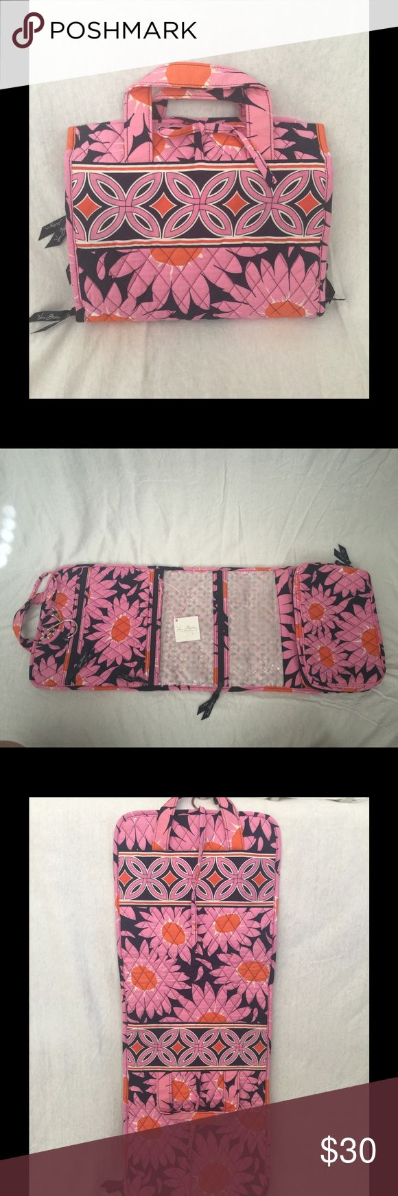 """Bold and Beautiful  Hanging Travel Organizer Vera Bradley """"Loves Me"""" pattern hanging travel toiletry/cosmetic/jewelry organizer.  Several zip up compartments.  Popular Vera Bradley pattern. Vera Bradley Bags Travel Bags"""