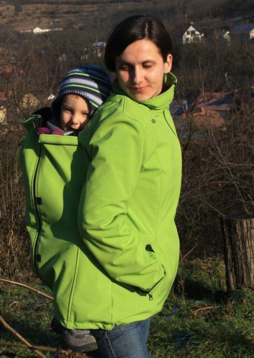 Babywearing Softshell Jacket Adelay Green.  €11 – €105  Jacket for front carrying, back carrying, normal use and during pregnancy.