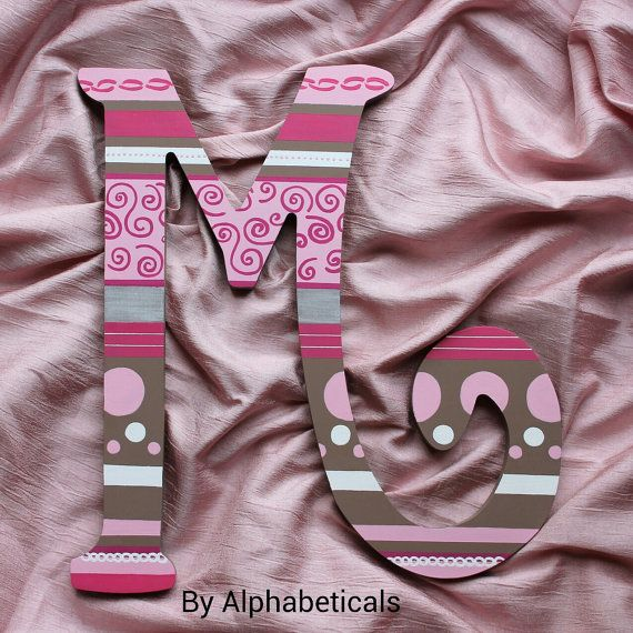 Initials Monogram Wall Decor Wooden Letters for Nursery Hanging Decorative Letters Custom Painted Alphabeticals