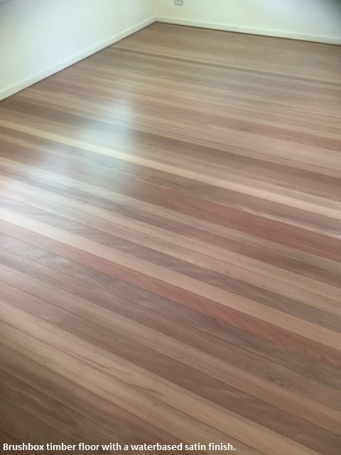 Brushbox is a gorgeous timber, we have sanded and this floor in Chermside West and coated with a waterbased satin.