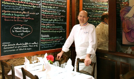 Les viviers bistrot with the owner and chef.