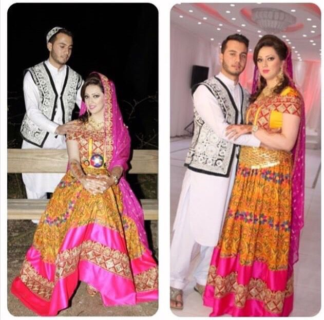 Afghan Wedding Gowns: #afghan #national #dress #engagement