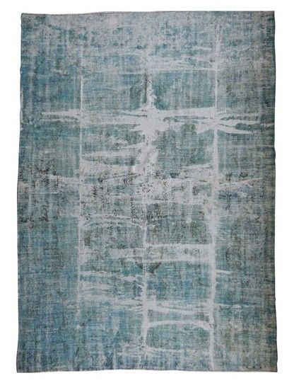 vintage recoloured vloerkleed zeegroen - Recoloured - Vintage vloerkleden