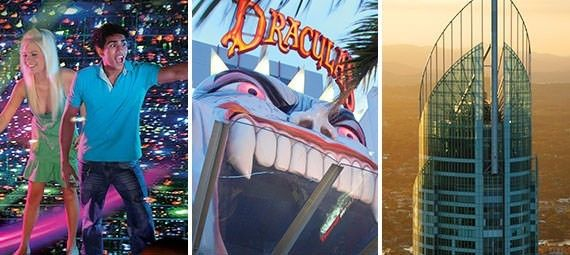 Book your Surfers Paradise Attraction Pass online now for discounted access to three of the essential highlights of the Gold Coast, all located within easy walking distance of one another! Included in the price of the pass are entry to Infinity, Dracula's Haunted House and Sky Point Observation Deck.